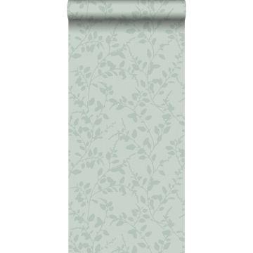 behang bladmotief celadon groen