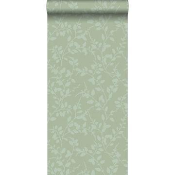 behang bladmotief groen