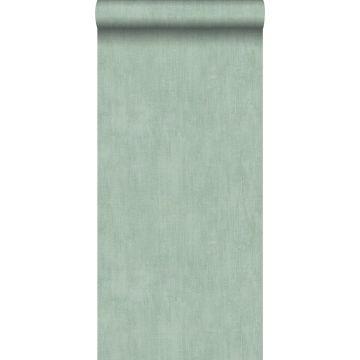 behang geschilderd effect celadon groen