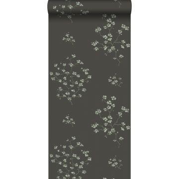 behang bloesemtakken zwart