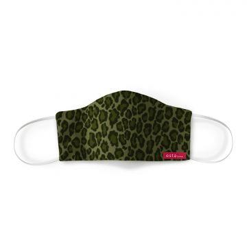 mondkapje panterprint jungle groen