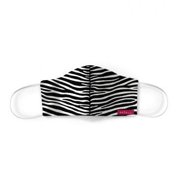 mondkapje zebra's zwart wit