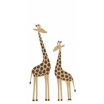 fotobehang giraffen beige
