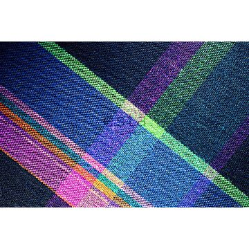 fotobehang ruiten blauw, roze, groen en paars