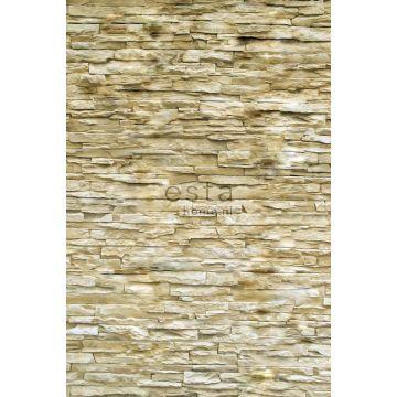 fotobehang modern brick wall beige