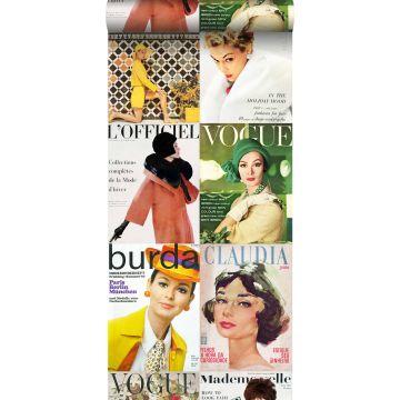 vlies wallpaper XXL magazine covers meerkleurig