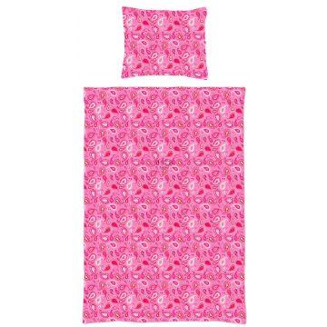 eenpersoons dekbedset paisley fuchsia roze