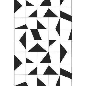 fotobehang tegelmotief zwart wit