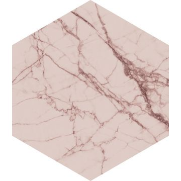 muursticker marmer grijs roze