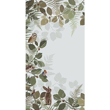 fotobehang bosdieren groen en bruin