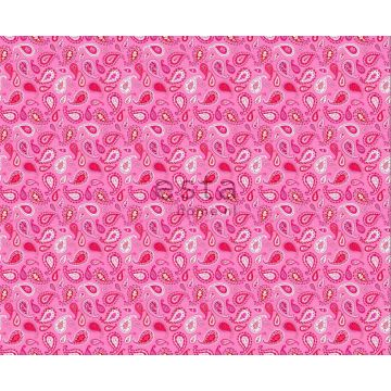 stof paisley fuchsia roze