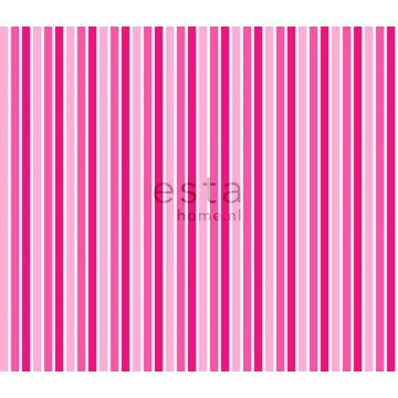 stof strepen fuchsia roze