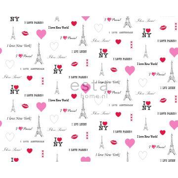 stof I love Paris - quotes wit