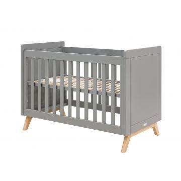 babybed Fenna grijs en naturel